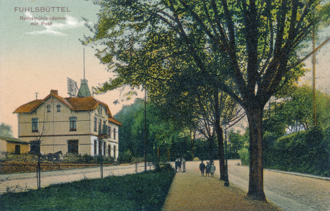 Fuhlsbüttel Post Postgebäude Ratsmühlendamm